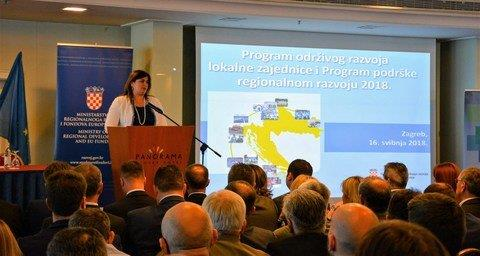 Svečano potpisivanje ugovora o sufinanciranju projekata u Ministarstvu regionalnoga razvoja i fondova Europske unije