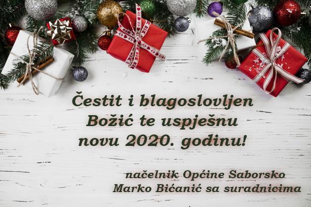 Sretan Božić i nova 2020. godina!
