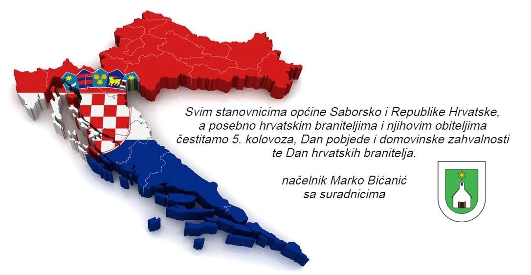 Čestitamo Dan pobjede i domovinske zahvalnosti te Dan hrvatskih branitelja!